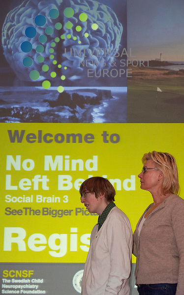 Annie Dow, Sophie Dow, at Buchanan  Galleries Glasgow, launch of No Mind Left Behind: Major International conference brings 52 learning difficulty experts to Glasgow, 29-30 March, Glasgow royal concert hall. Picture Johnny Mclauchlan/Universal News and Sport (Scotland)22/03/2011