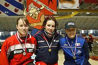 SCHAATSEN: HEERENVEEN: IJsstadion Thialf, 13-03-2004, VikingRace, Mayon Kuipers (NED), Rita Battisti (ITA), ©foto Martin de Jong