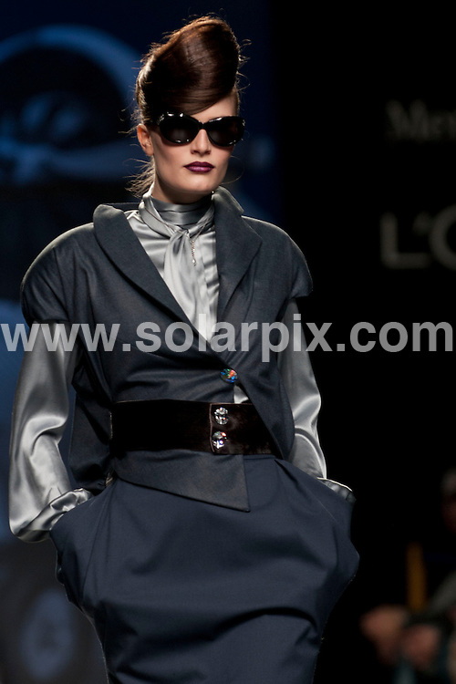 **ALL ROUND PICTURES FROM SOLARPIX.COM**                                             **WORLDWIDE SYNDICATION RIGHTS EXCEPT SPAIN - NO SYNDICATION IN SPAIN**                                                                                  Caption: Models on the Runway shows at The Mercedes Benz Fashion week in Madrid Spain                                                             This pic: Ion Fiz  Show collection                                                                                             JOB REF: 14421       DMS/Espinola Photo      .DATE: 03.02.2012                                                           **MUST CREDIT SOLARPIX.COM OR DOUBLE FEE WILL BE CHARGED**                                                                      **MUST AGREE FEE BEFORE ONLINE USAGE**                               **CALL US ON: +34 952 811 768 or LOW RATE FROM UK 0844 617 7637**