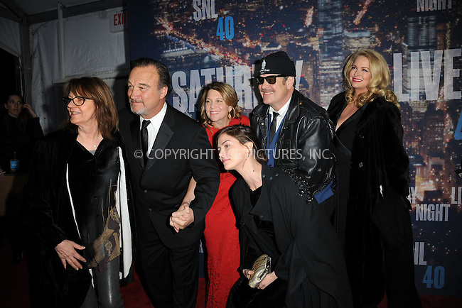 WWW.ACEPIXS.COM<br /> February 15, 2015 New York City<br /> <br /> Jim Belushi  and Dan Aykroyd walking the red carpet at the SNL 40th Anniversary Special at 30 Rockefeller Plaza on February 15, 2015 in New York City.<br /> <br /> Please byline: Kristin Callahan/AcePictures<br /> <br /> ACEPIXS.COM<br /> <br /> Tel: (646) 769 0430<br /> e-mail: info@acepixs.com<br /> web: http://www.acepixs.com