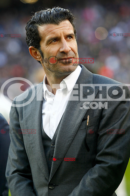 Real Madrid's legend Luis Figo during La Liga match. January 7,2016. (ALTERPHOTOS/Acero) . NORTEPHOTO.COM