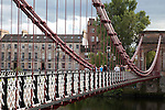 South Portland Street Suspension Bridge in Glasgow; Scotland