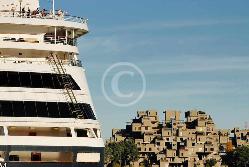 Canada, Montreal, Cruise ship at dock