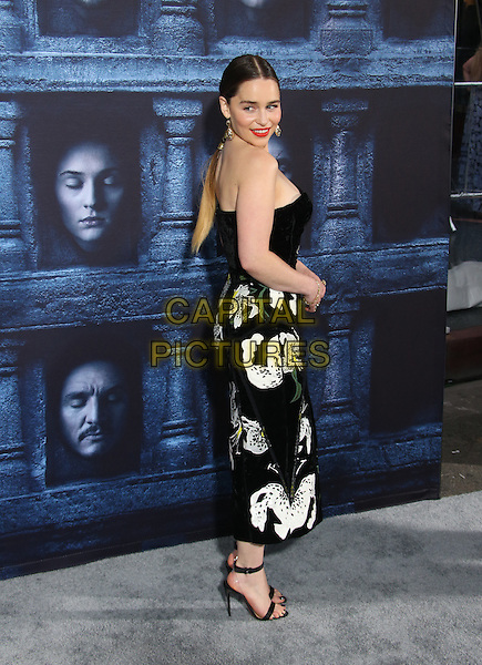 Hollywood, CA - April 10 Emilia Clarke Attending Premiere Of HBO's &quot;Game Of Thrones&quot; Season 6 at The TCL Chinese Theatre On April 10, 2016. <br /> CAP/MPI/SAD<br /> &copy;SAD/MPI/Capital Pictures