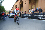 Fernando Gaviria (COL) UAE Team Emirates on the San Luca climb during Stage 1 of the 2019 Giro d'Italia, an individual time trial running 8km from Bologna to the Sanctuary of San Luca, Bologna, Italy. 11th May 2019.<br /> Picture: Eoin Clarke | Cyclefile<br /> <br /> All photos usage must carry mandatory copyright credit (© Cyclefile | Eoin Clarke)