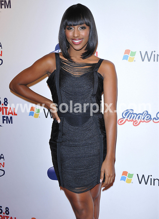 **ALL ROUND PICTURES FROM SOLARPIX.COM**.**WORLDWIDE SYNDICATION RIGHTS**.Press room at the Jinglebell Ball 2009. Held at the O2 Arena, Greenwich Peninsula in London UK..This pic:Alexandra Burke..JOB REF: 10346      SSD     DATE:06.12.09.**MUST CREDIT SOLARPIX.COM OR DOUBLE FEE WILL BE CHARGED**.**MUST NOTIFY SOLARPIX OF ONLINE USAGE**.**CALL US ON: +34 952 811 768 or LOW RATE FROM UK 0844 617 7637**