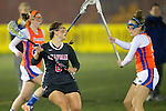Santa Barbara, CA 02/18/12 - Gabriella David (Chapman #6) and unidentified Florida player(s) in action during the Chapman - Florida matchup at the 2012 Santa Barbara Shootout.  Florida defeated Chapman 12-11.