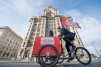 Picture by Allan McKenzie/SWpix.com - 24/09/2017 - Cycling - HSBC UK City Ride Liverpool - Albert Dock, Liverpool, England - Liver building, riders, HSBC UK, branding.
