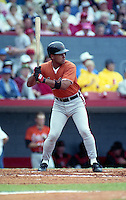 Baltimore Orioles Craig Worthington during spring training circa 1991 at Chain of Lakes Park in Winter Haven, Florida.  (MJA/Four Seam Images)