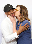 Corey Hawkins and Allison Janney backstage at United Airlines Presents #StarsInTheAlley free outdoor concert in Shubert Alley on 6/2/2017 in New York City.
