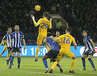 Preston North End's Tom Barkuizen sees his header go wide<br /> <br /> Photographer Mick Walker/CameraSport<br /> <br /> The EFL Sky Bet Championship - Sheffield Wednesday v Preston North End - Saturday 22nd December 2018 - Hillsborough - Sheffield<br /> <br /> World Copyright &copy; 2018 CameraSport. All rights reserved. 43 Linden Ave. Countesthorpe. Leicester. England. LE8 5PG - Tel: +44 (0) 116 277 4147 - admin@camerasport.com - www.camerasport.com
