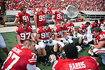 September 19, 2009: Wisconsin Badgers defense rest on the bench during an NCAA football game against the Wofford Terriers at Camp Randall Stadium on September 19, 2009 in Madison, Wisconsin. The Badgers won 44-14. (Photo by David Stluka)