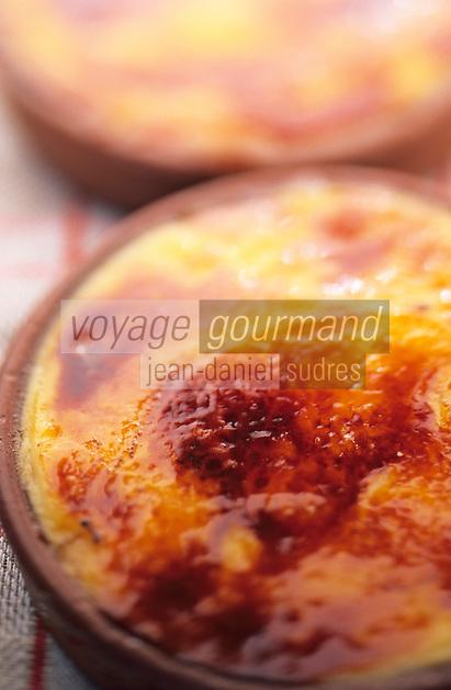 """Europe/France/Languedoc-Roussillon/66/Pyrénées-Orientales/Port-Vendres: crème catalane, recette du restaurant """"La Cote Vermeille"""""""