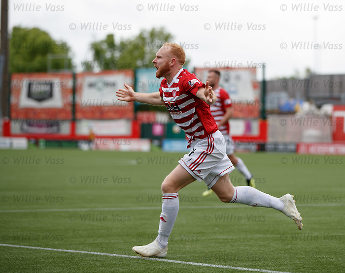 18.05.2019 Hamilton v St Johnstone: Ziggy Gordon celebrates his goal