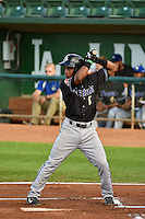Fernery Ozuna (8) of the Missoula Osprey at bat against the Ogden Raptors in Pioneer League action at Lindquist Field on August 4, 2014 in Ogden, Utah.  (Stephen Smith/Four Seam Images)\