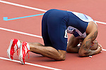 Mcc0041438 . Daily Telegraph..DT Sport..2012 Olympics.. Team GB's James Ellington failed to make it into the 200 meter semi-finals after finishing sixth in his heat in 21.23sec..7 August 2012....