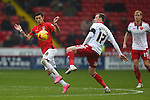 Coventry's Ruben Lameiras and Sheffield United's Martyn Woolford - Sheffield United vs Coventry City - SkyBet League One - Bramall Lane - Sheffield - 13/12/2015 Pic Philip Oldham/SportImage