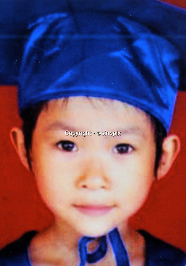 Huang Yuan (7), no DOB (date of birth provided). Missing in East Dongguan by Dong Jiang Avenue on 18 July 2006.  Girls in China are increasingly targeted and stolen as there is a shortage of wives as the gender imbalance widens with 120 boys for every 100 girls..PHOTO BY SINOPIX