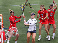 Penn State's Katie O'Donnell (5) scores a goal against Ohio State on April 1, 2017. No. 6 Nittany Lions won 16-12 over the Buckeyes.  Photo/©2017 Craig Houtz