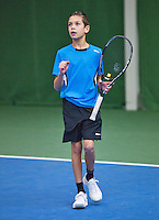 01-12-13,Netherlands, Almere,  National Tennis Center, Tennis, Winter Youth Circuit, Fons van Sambeek   <br /> Photo: Henk Koster