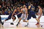 Turkish Airlines Euroleague 2017/2018.<br /> Regular Season - Round 8.<br /> FC Barcelona Lassa vs Valencia Basket: 89-71.<br /> Adam Hanga vs Joan Sastre.