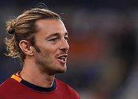Calcio, Serie A: Roma vs ChievoVerona. Roma, stadio Olimpico, 31 ottobre 2013.<br /> AS Roma defender Federico Balzaretti warms up prior to the start of the Italian Serie A football match between AS Roma and ChievoVerona at Rome's Olympic stadium, 31 October 2013.<br /> UPDATE IMAGES PRESS/Isabella Bonotto