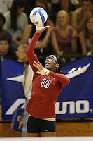 25 August 2007: Foluke Akinradewo during Stanford's 3-0 win over Long Beach State in Long Beach, CA.