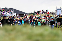 Spectators. McKayson NZ Women's Golf Open, Round Two, Windross Farm Golf Course, Manukau, Auckland, New Zealand, Friday 29 September 2017.  Photo: Simon Watts/www.bwmedia.co.nz