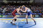 BROOKINGS, SD - NOVEMBER 17: Colten Carlson from South Dakota State battles with Hunter Marko from the University of Minnesota during their 149 pound match Friday evening at First Arena in Brookings, SD.  (Photo by Dave Eggen/Inertia)