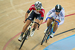 Tso Kai Kwang (l) of the SCAA competes in Men Junior - Omnium III Elimination during the Hong Kong Track Cycling National Championship 2017 on 25 March 2017 at Hong Kong Velodrome, in Hong Kong, China. Photo by Marcio Rodrigo Machado / Power Sport Images