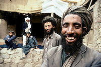 Local People out of a restaurant in Owbeh, on the road to the Menar e Jam in the Ghor province - Afghanistan. .From western Afghan capital Herat to the former capital of the Ghorides Empire Fîrûzkôh, next to the Menar e Jam..-The full text reportage is available on request in Word format