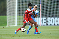 Boyds, MD - Saturday August 26, 2017: Cheyna Williams, Samantha Johnson during a regular season National Women's Soccer League (NWSL) match between the Washington Spirit and the Chicago Red Stars at Maureen Hendricks Field, Maryland SoccerPlex.