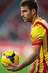 BILBAO.ESPAÑA.FÚTBOL.<br /> Partido de La Liga BBVA entre el Ath.Club y el Barça , a 01/12/2013.<br /> En la imagen :<br /> 4Cesc Fabregas (FC Barcelona)