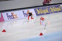 SPEEDSKATING: SOCHI: Adler Arena, 21-03-2013, Essent ISU World Championship Single Distances, Day 1, 1500m Men, Bart Swings (BEL), Denis Yuskov (RUS), © Martin de Jong