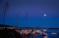 Super moon full moon ocean beach shore shoreline sunset dusk night water Pacific Ocean reflection CA California Pismo Beach
