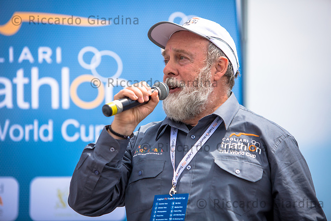 08/05/2016 - Paul Grooves, speaker internazionale, 2016 Cagliari ITU Triathlon World Cup -