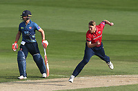 Jamie Porter in bowling action for Essex during Essex Eagles vs Kent Spitfires, Royal London One-Day Cup Cricket at The Cloudfm County Ground on 6th June 2018