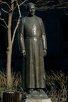 Montreal (QC) CANADA -  File Photo taken between 1990 and 1999 - Frere Andre (Brother Andre) statue