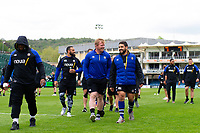 Bath Rugby players leave the field prior to the match. Gallagher Premiership match, between Bath Rugby and Wasps on May 5, 2019 at the Recreation Ground in Bath, England. Photo by: Patrick Khachfe / Onside Images