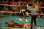 LAS VEGAS NEVADA 10/02/03  Mandalay Bay Weighin  for the HOLYFIELD vs TONEY fight Sat night OCT 4 2003 EVANDER HOLYFIELD loses by throwing in the towel<br />
