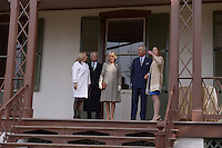Washington, DC - March 19, 2015: His Royal Highness The Prince of Wales, accompanied by The Duchess of Cornwall (c), tours the Lincoln Cottage and Soldiers Home in the District of Columbia,  March 19, 2015, as part of a four-day USA visit. Prince Charles has officially visited the United States 19 times since 1970. (L-R) Susan Fant, Lester Fant, The Duchess of Cornwall, The Prince of Wales, Michelle Smith. (Photo by Don Baxter/Media Images International)