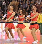 18.01.2015 Manresa. Liga endeas. Cheerleaders. Bruixa d'or - Real Madrid. Actuacio de les cheerleaders Sportium