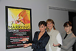 "As the World Turns' Colleen Zenk poses with Eliza Ventura and Meghan Duffy (R) as they star in ""Marrying George Clooney: Confessions from a Midlife Crisis"" on February 29, 2012 at Cap 21 America's Musical Thetre Conservatory & Theatre Company, New York City, New York.  (Photo by Sue Coflin/Max Photos)"