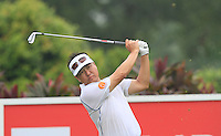 Charlie Wi (USA) on the 4th tee during Round 3 of the CIMB Classic in the Kuala Lumpur Golf & Country Club on Saturday 1st November 2014.<br /> Picture:  Thos Caffrey / www.golffile.ie