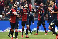 Antonio Sanabria of Genoa celebrates after scoring goal of 1-1 <br /> Genova 03-02-2019 Stadio Marassi, Football Serie A 2018/2019 Genoa - Sassuolo   <br /> Foto Image Sport / Insidefoto