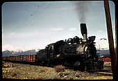 #75 leaving Leadville with a train of gons.<br /> C&amp;S  Leadville, CO  Taken by Maxwell, John W. - 5/1/1941