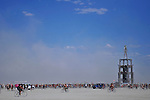 Wednesday boobies parade.<br /> Burning Man.<br /> Black Rock City, Black Rock Desert, Nevada, USA.<br /> September, 2010.