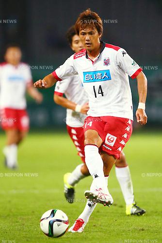 Shinya Uehara (Consadole), OCTOBER 4, 2015 - Football / Soccer : 2015 J2 League match between Tokyo Verdy 0-2 Consadole Sapporo at Ajinomoto Stadium, Tokyo, Japan. (Photo by Shingo Ito/AFLO SPORT)