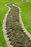 Paved walkway through Bao's family garden, Huangshan, China