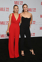 9 August 2018-  Westwood, California - Julia DeMars, Ronda Rousey. Premiere Of STX Films' &quot;Mile 22&quot; held at The Regency Village Theatre. <br /> CAP/MPIFS<br /> &copy;MPIFS/Capital Pictures